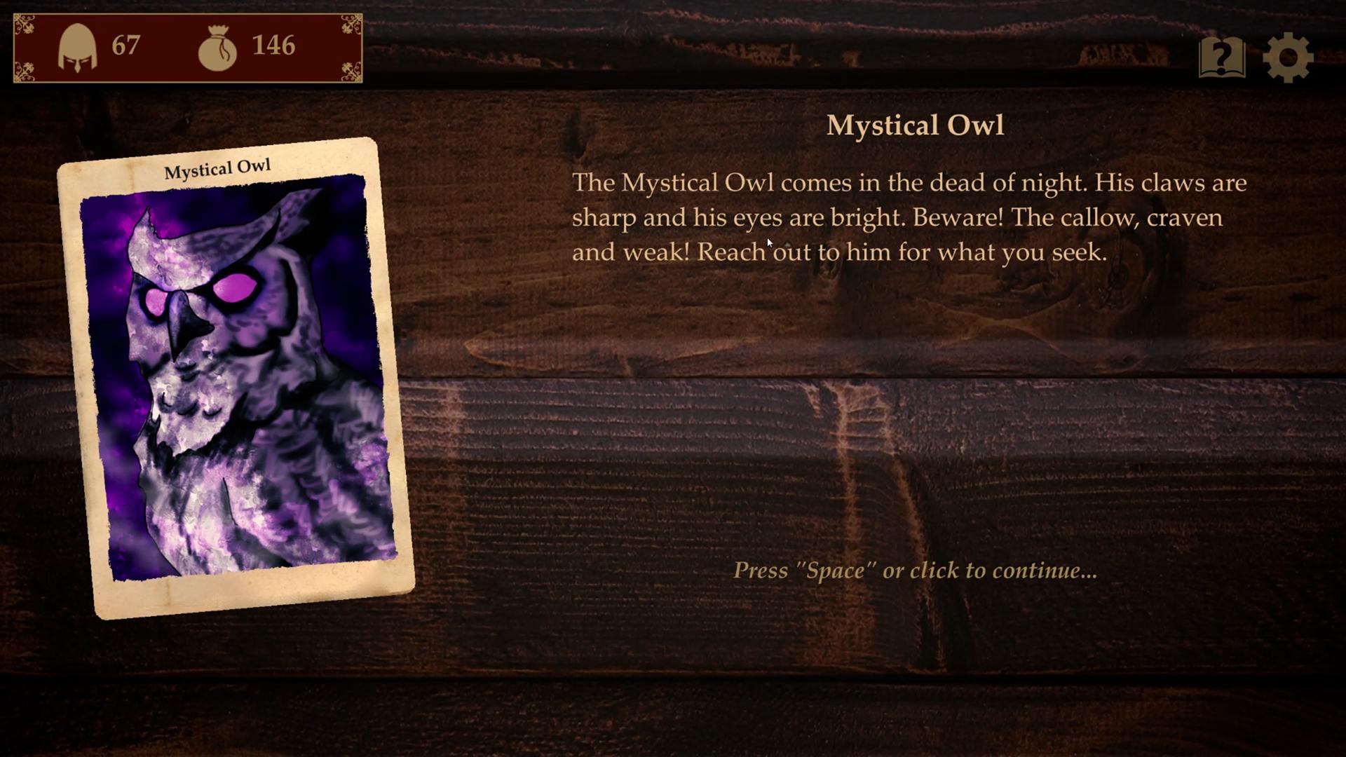 Vulgord's Tower Event Card - Mystical Owl