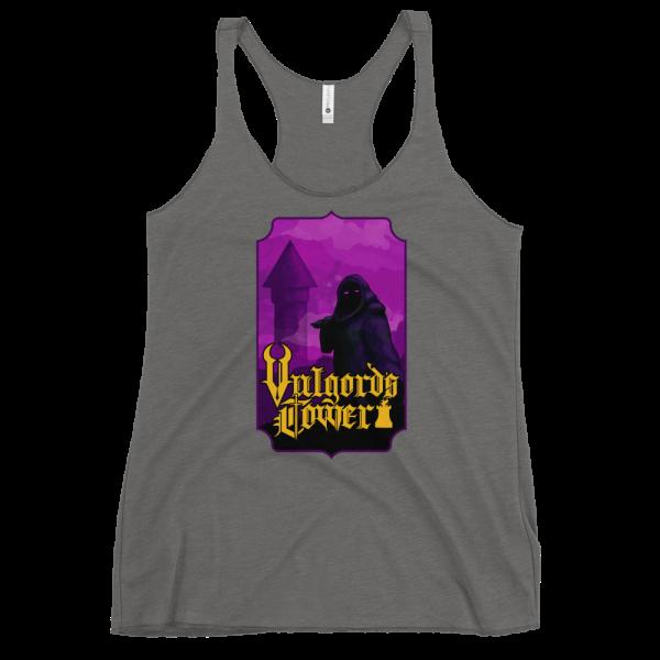 Vulgord's Tower Wizard Tower Racerback Tank Top - Grey