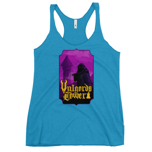 Vulgord's Tower Wizard Tower Racerback Tank Top - Turquoise