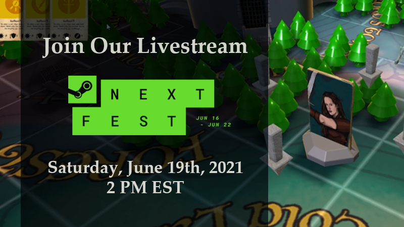 Join the Vulgord's Tower Livestream on STEAM: Saturday, June 19th at 2pm EST