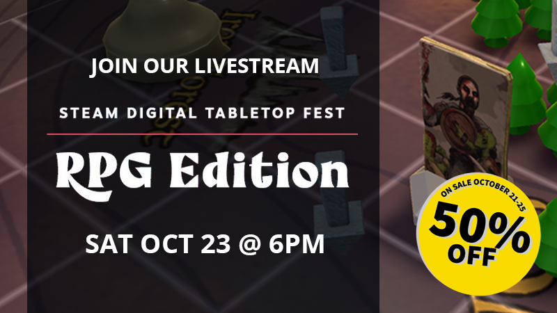 Vulgord's Tower Livestream and Discount for Steam Tabletop Fest 2021
